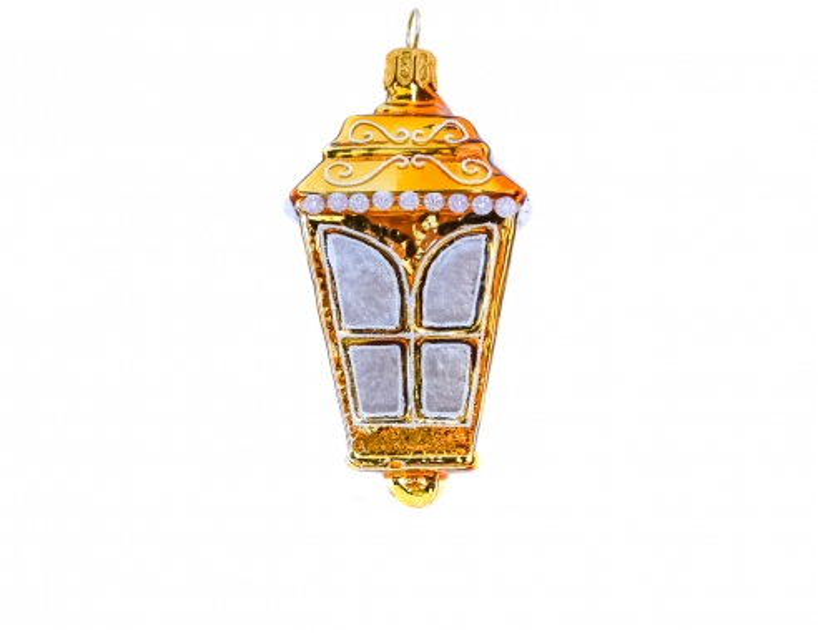 Suspension Lanterne dorée en verre...