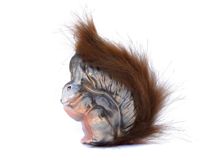 Suspension de noël écureuil en verre...