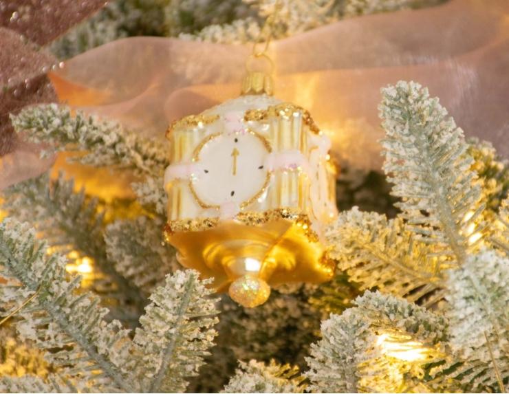 Suspension de Noël horloge en verre...