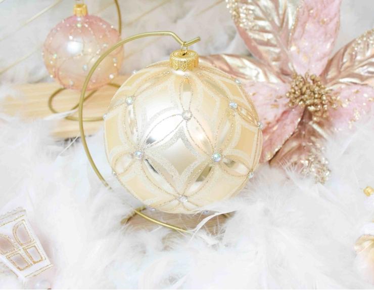Boule de Noël shabby vintage...