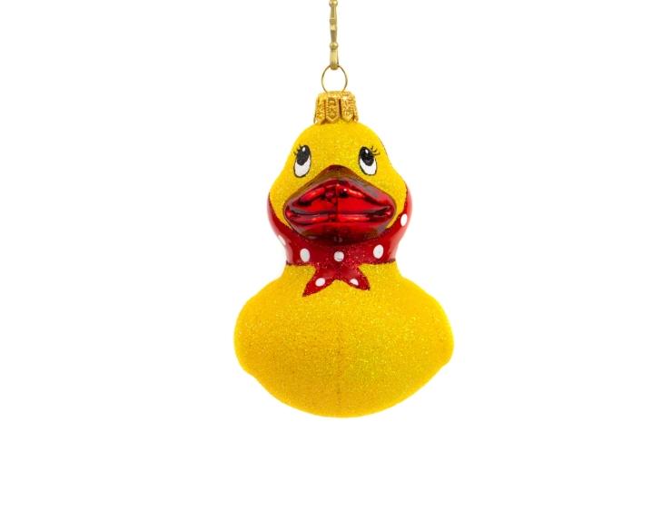 Suspension sapin de Noël canard jaune...