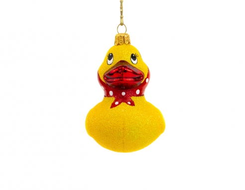 Suspension sapin de Noël canard jaune...