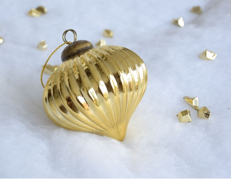 Boule de Noël Toupie Noël verre...