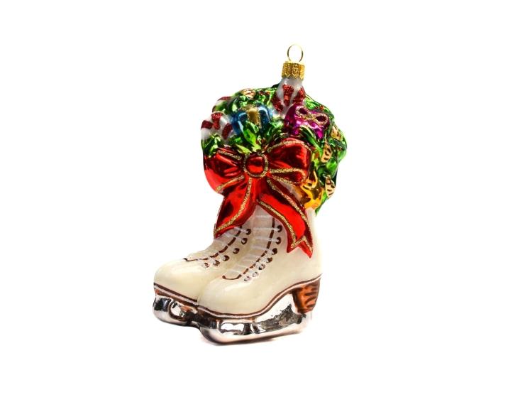 Suspension de Noël patins à glace en...