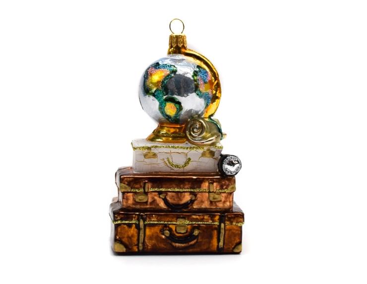 Décoration sapin de Noël valise tour...