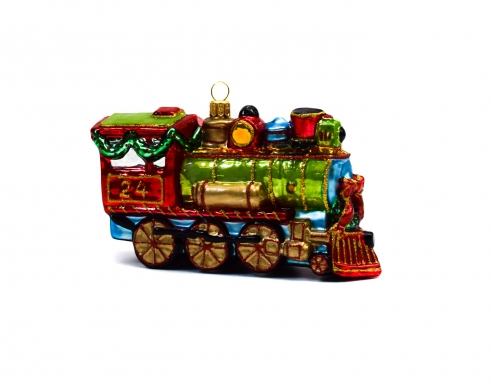 Locomotive multicolore en verre...