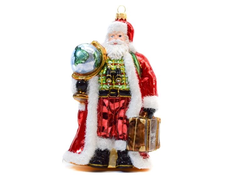 Suspension Père Noël globe-trotter en...