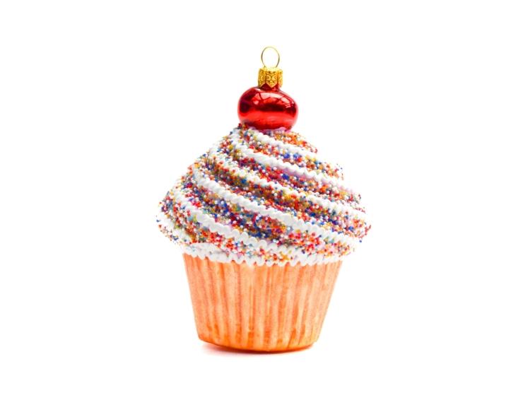 Décoration cupcake en verre soufflé à...
