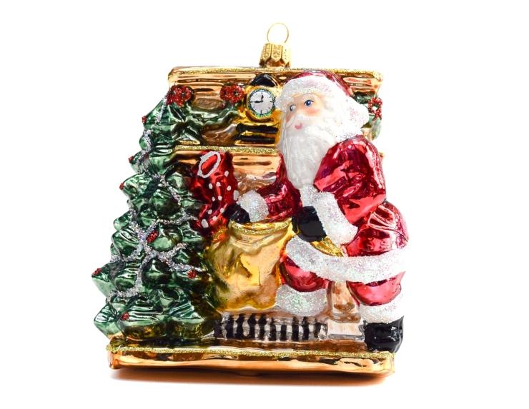 Suspension Père Noël cheminée avec...
