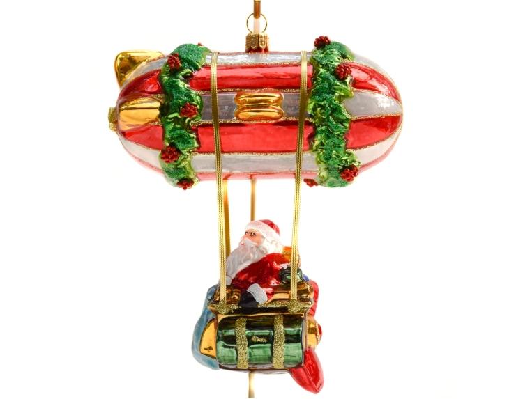 Suspension en verre soufflé Père Noël...