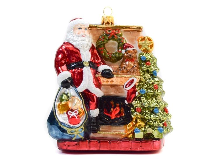 Décoration Père Noël cheminée avec...