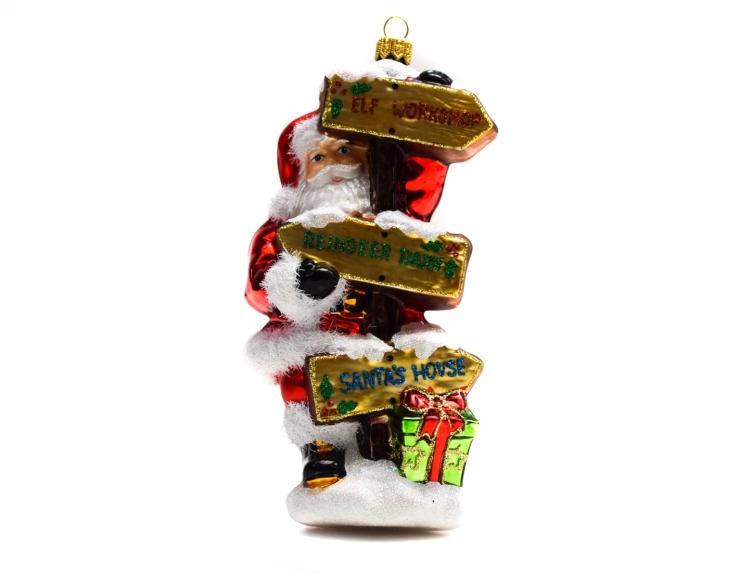 Suspension Père Noël avec panneau en...