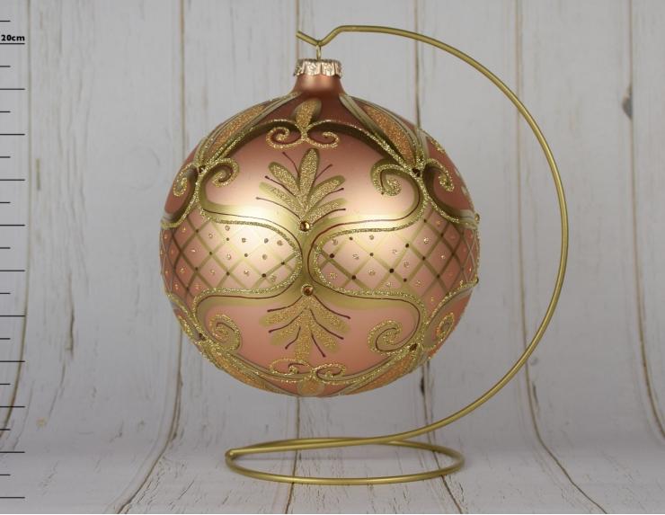 Boule de Noël en verre rose poudré...