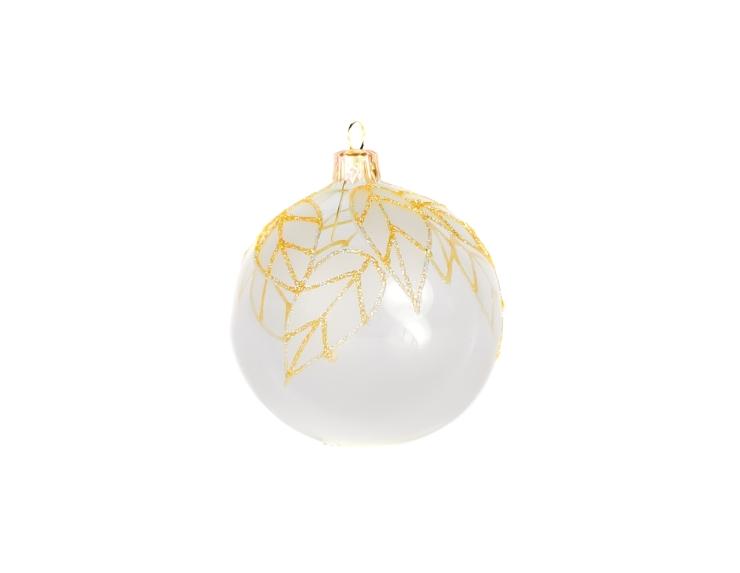 Boule de Noël transparente décor...