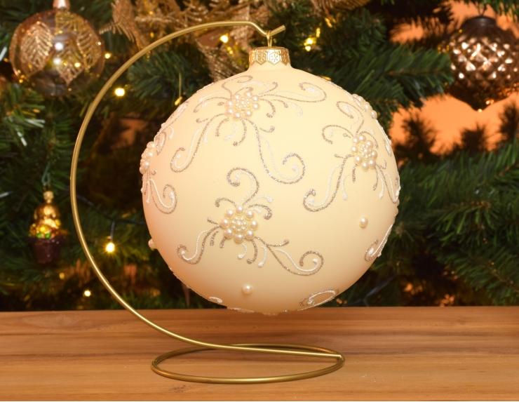 Boule de Noël baroque avec support...
