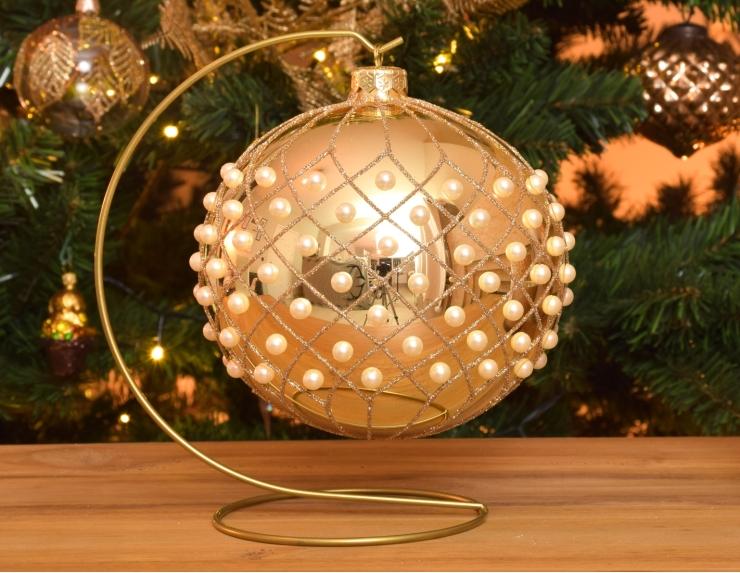 Boule de Noël moderne avec support...
