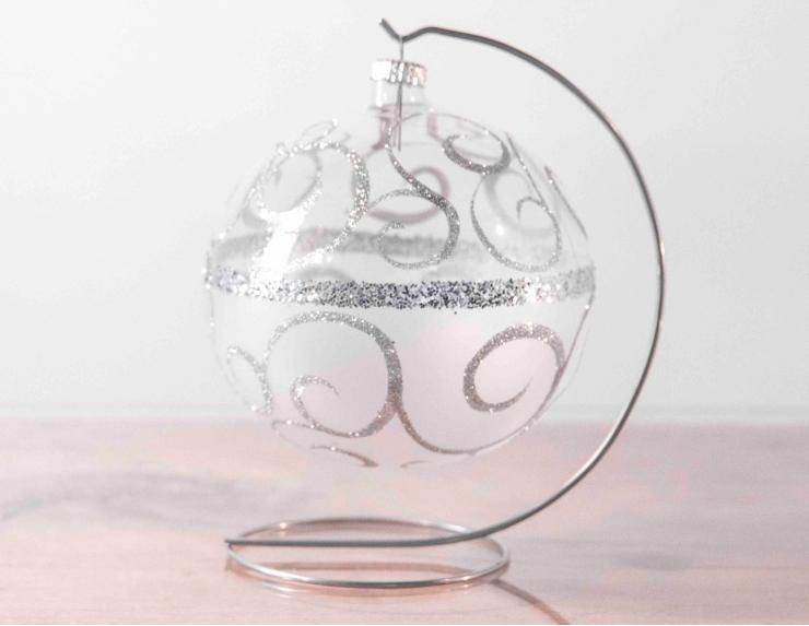 Grande boule de Noël transparente...