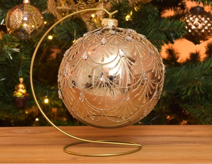Boule de Noël bronze avec support...