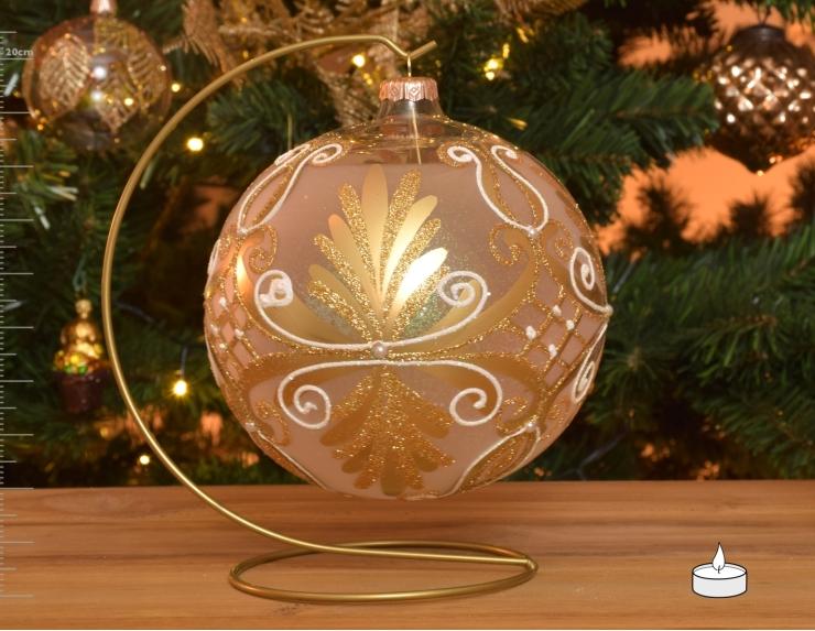 Boule de Noël photophore en verre...