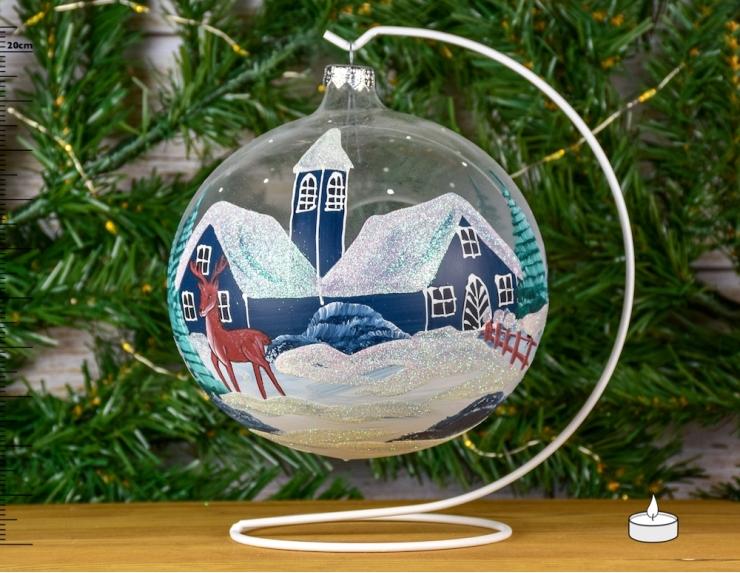 Boule de Noël photophore village...