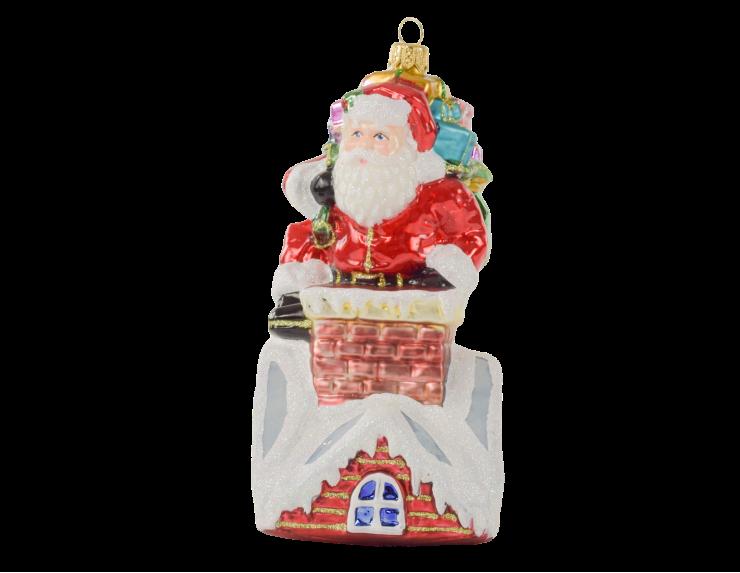 Boule de Noël Père Noël avec cadeaux...