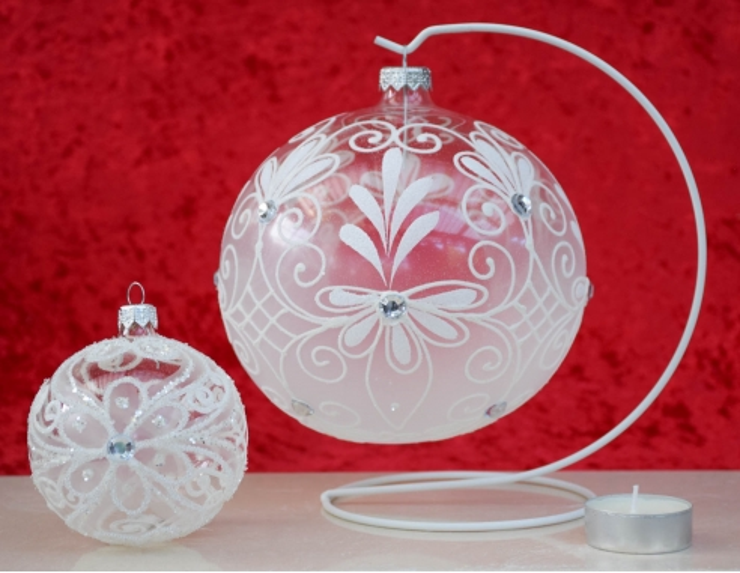 boule de Noël en verre soufflé 15cm