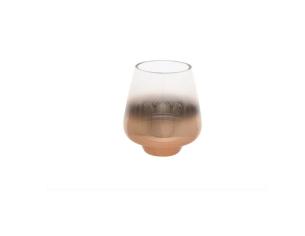 Photophore amphore verre fumé cuivrée - H 10 cm