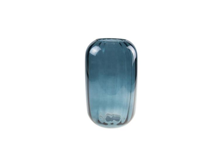 Grand photophore vase bleu pétrol - H 25cm