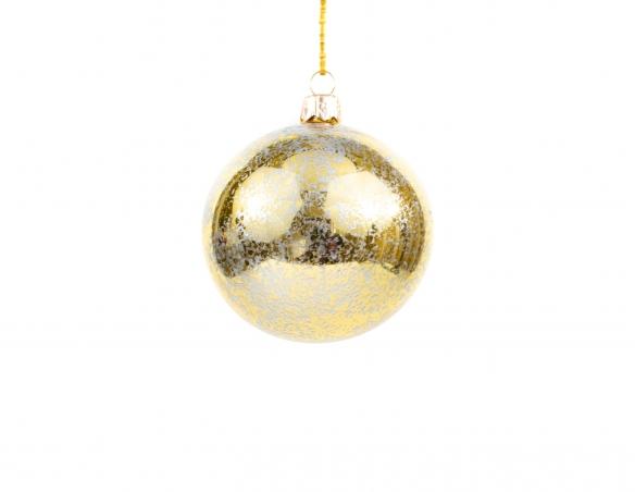 Boule de Noël mordorée brillante - ø 8cm