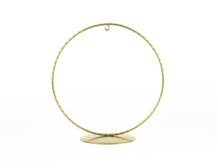 Support pour boule de Noël cercle doré ø 15 cm