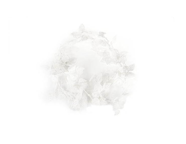 Guirlande feuilles blanche