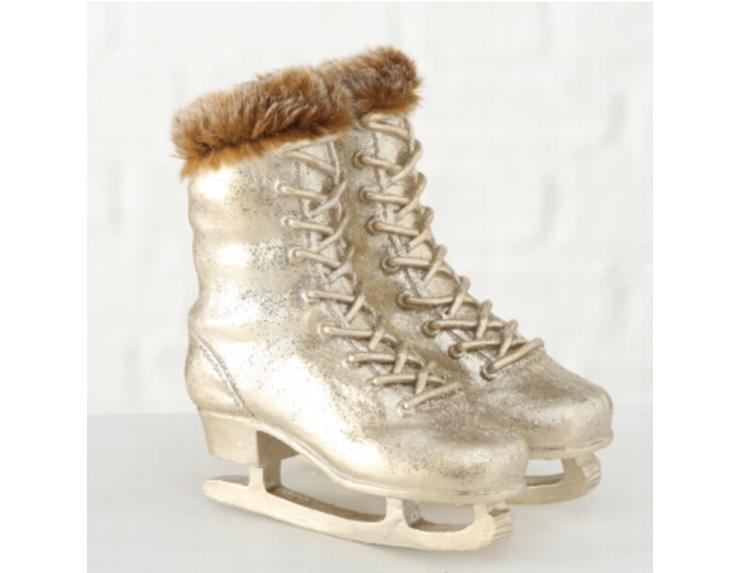 Décoration patins à glace doré , H18