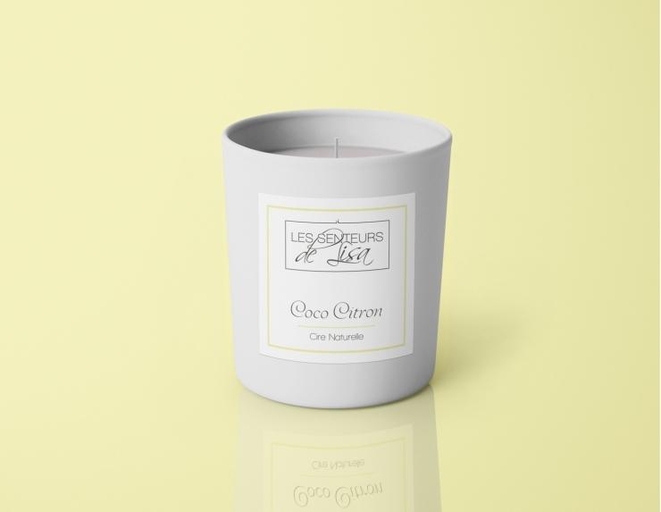 Bougie parfumée en cire de soja...